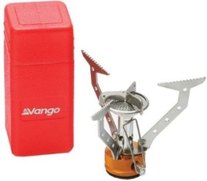 Vango Compact Lightweight Stove -The Vango Compact Gas Stove is an easily operated stove with fold-out pot supports to enable it to pack away into its own storage container. Baffles on the burner reduce the effect of wind on the flame