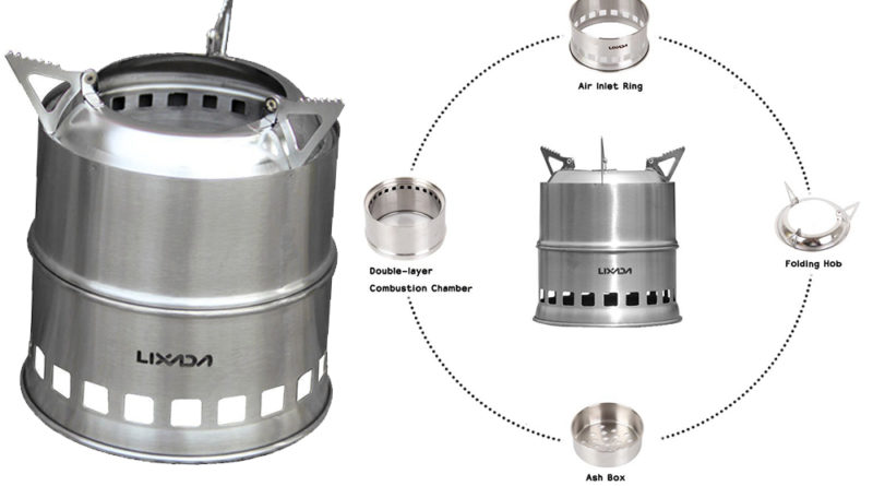 Lixada Stove Review Portable Stainless Steel Lightweight Wood